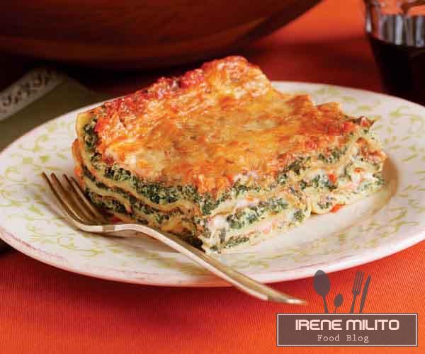 Lasagna con ricotta e spinaci