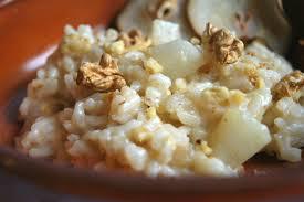 Risotto con aglio e noci