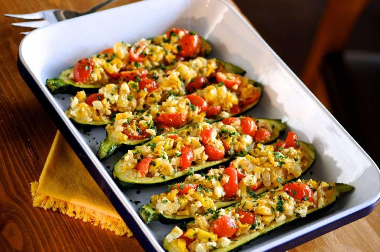 Zucchine ripiene di verdure